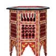 Bidhan piros marokkói asztal