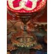Piros mozaik török asztali lámpa
