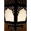 Afya marokkói mennyezeti lámpa fehér