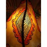 Hafa marrokkói álló lámpa narancs