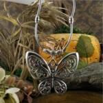 Pillangó mintájú tibeti ékszer