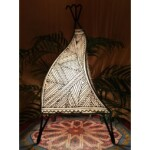 Emira marrokkói álló lámpa natúr
