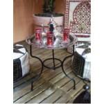 Gibraltar keleti teázó asztal ezüst színben