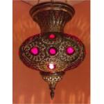 Hadeel marokkói mennyezeti lámpa arany