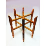 Iman antik keleti teázó asztal arany színben 60 cm