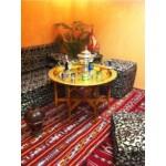 Iman antik keleti teázó asztal arany színben 80cm