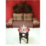 Mehdia marokkói teázó asztal ezüst színben