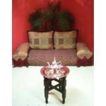 Mehdia marokkói teázó asztal arany színben