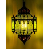Alia marokkói mennyezeti lámpa zöld