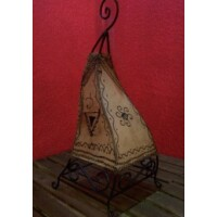 Marrakesh álló henna lámpa natúr 50 cm
