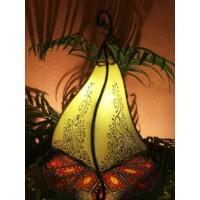 Rahaf marokkói álló henna lámpa natúr 35 cm