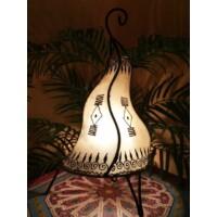 Zeliha marokkói álló henna lámpa natúr 42 cm