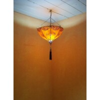 Anadil marokkói henna mennyezeti lámpa narancssárga