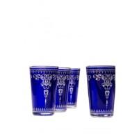 Andalous marokkói tea pohár kék