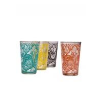 Hadia marokkói tea pohár többszínű