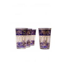 Lamia marokkói tea pohár kék
