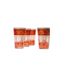Lamia marokkói tea pohár narancssárga