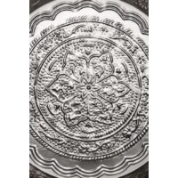 Ferda ezüst marokkói tálca 40 cm