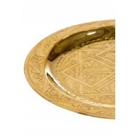Mehdia arany marokkói tálca 16 cm