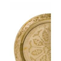 Mehdia arany marokkói tálca 40 cm