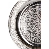 Mehdia ezüst marokkói tálca 25 cm