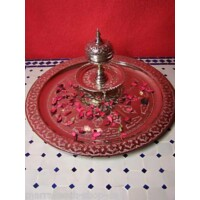 Mehdia ezüst marokkói tálca 60 cm