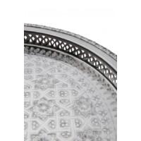 Nadia ezüst marokkói tálca 42 cm