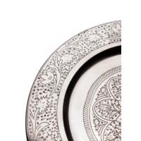 Sidra ezüst marokkói tálca 30 cm