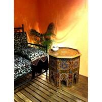 Ourika sárga marokkói asztal