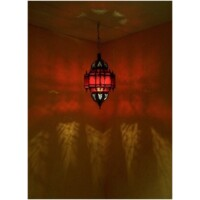 Alia marokkói mennyezeti lámpa piros