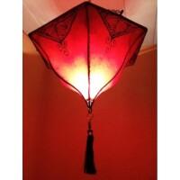 Ayla marokkói mennyezeti lámpa piros