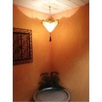 Berfu marokkói mennyezeti lámpa sárga