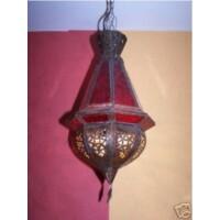Moulay marokkói mennyezeti lámpa piros