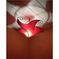 Nejma marokkói mennyezeti lámpa piros