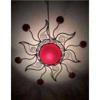 Soleil marokkói mennyezeti lámpa piros