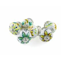 Virág mintás porcelán bútor fogantyú