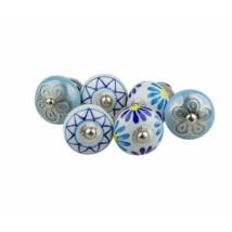 Kék vegyes porcelán bútor fogantyú