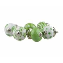 Zöld porcelán bútor fogantyú