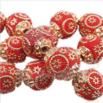 Indonéz gyöngy piros 5 db/csomag