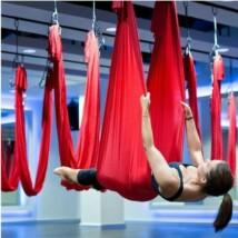 Antigravitációs jóga függőágy piros színű 4 méteres