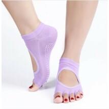 Lila jóga zokni