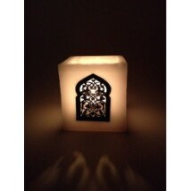 Paraffin mécsestartó  lámpa Marokkóból