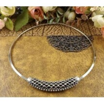 Aysel marokkói ezüst merev nyaklánc
