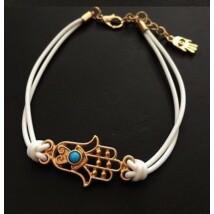Fatima keze karkötő fehér színű
