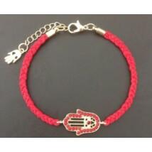 Fatima keze karkötő piros színű