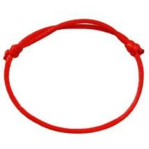 Piros kabbala karkötő