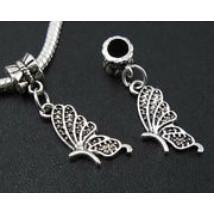 Tibeti ezüst pillangószárny medál