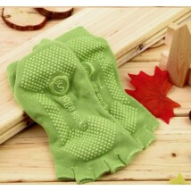 Jóga zokni világoszöld színű