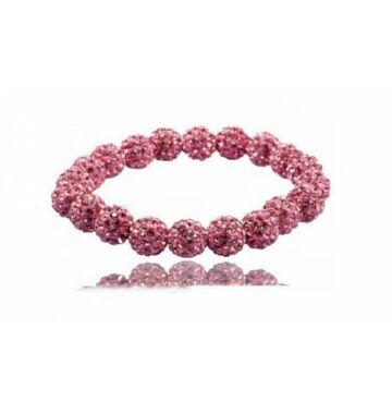 20 gyöngyös Shamballa karkötő Pink