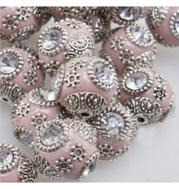 Indonéz gyöngy rózsaszín